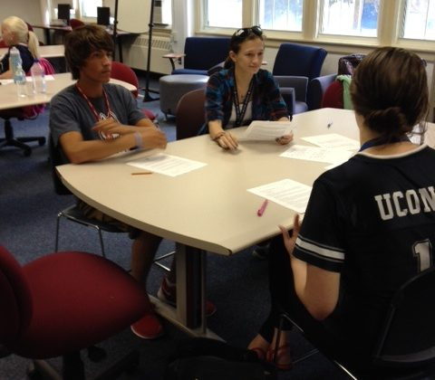 Students studying in the Academic Center.