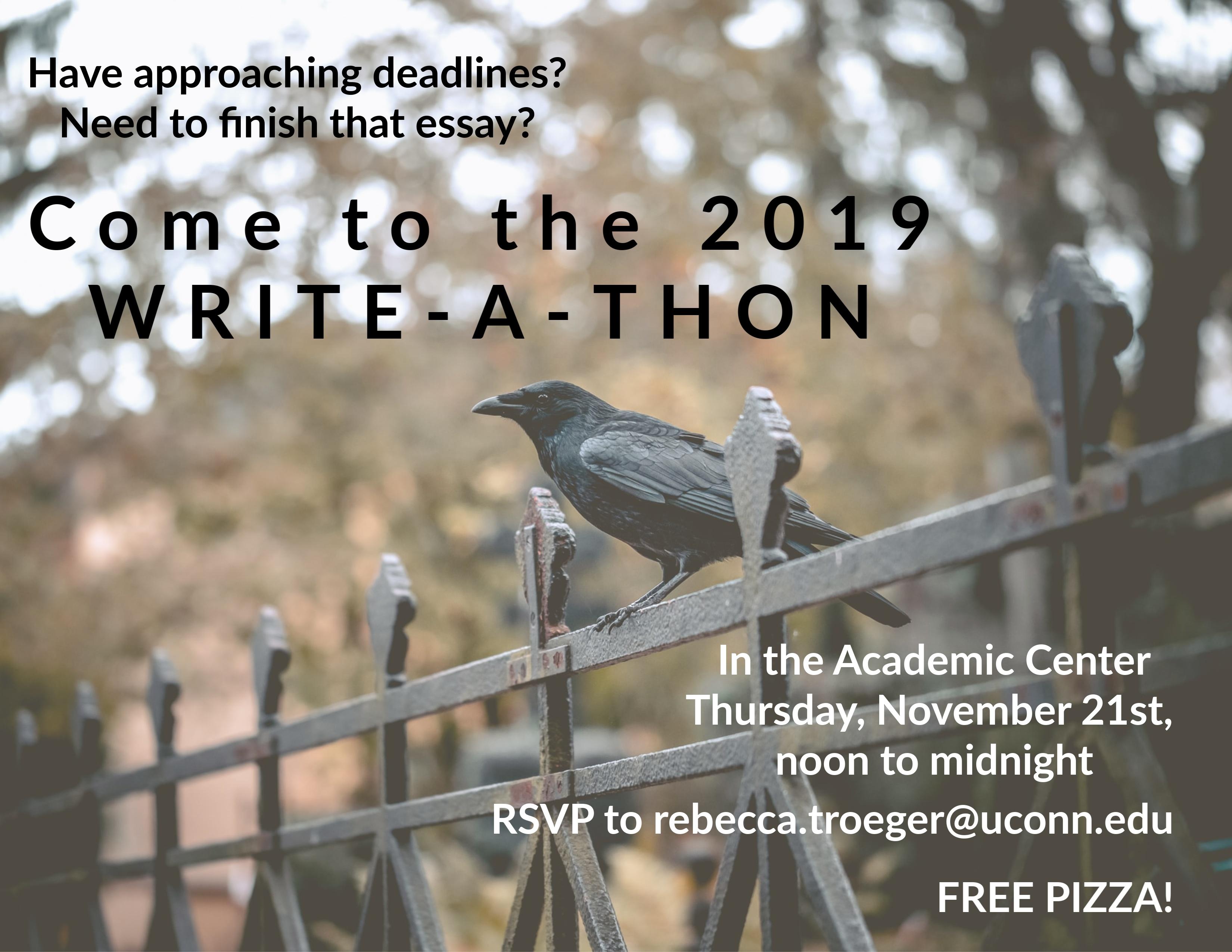 Write-a-thon Poster Raven