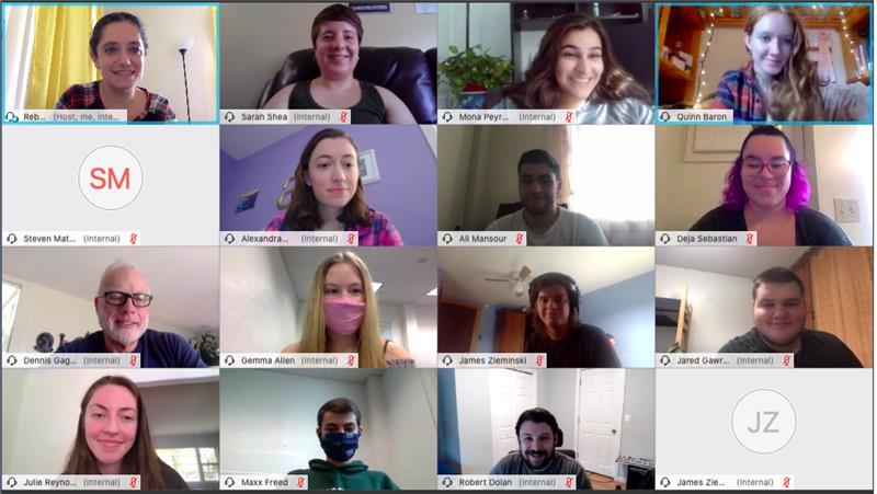 APAC staff smiling on webcams